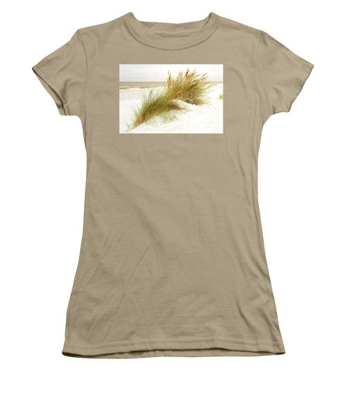 Women's T-Shirt (Junior Cut) featuring the photograph Beach Grass by Hannes Cmarits