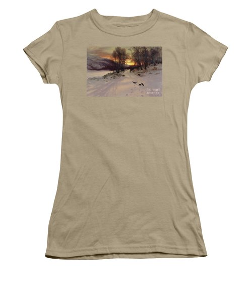 When The West With Evening Glows Women's T-Shirt (Junior Cut) by Joseph Farquharson