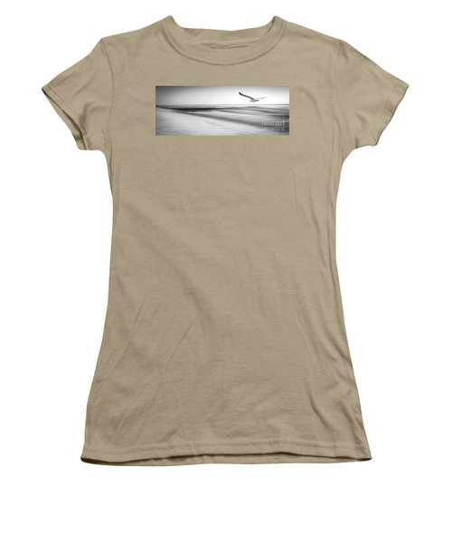 Women's T-Shirt (Junior Cut) featuring the photograph Desire Light Bw by Hannes Cmarits