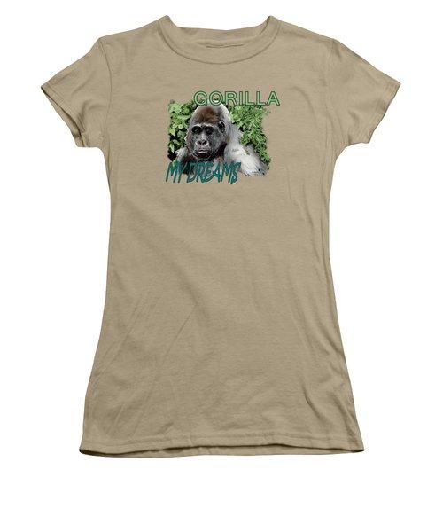 Gorilla My Dreams Women's T-Shirt (Junior Cut) by Joseph Juvenal