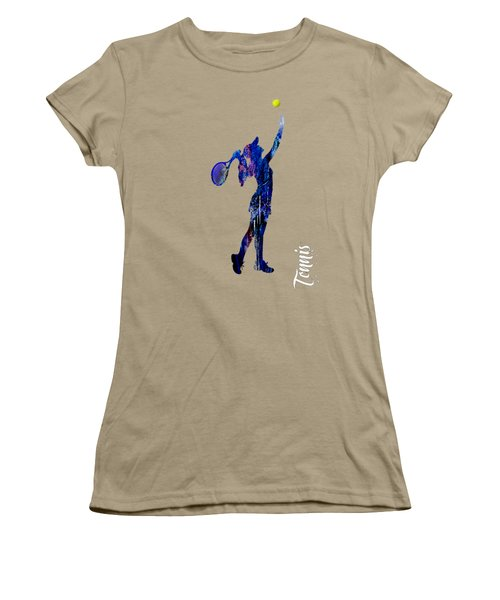 Womens Tennis Collection Women's T-Shirt (Junior Cut) by Marvin Blaine