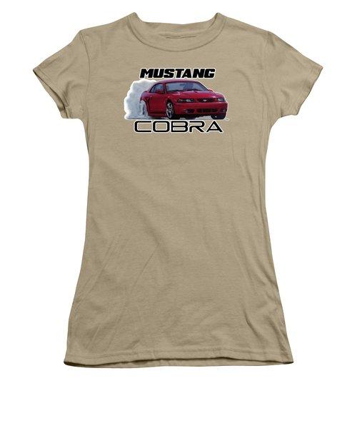 2004 Mustang Cobra Women's T-Shirt (Junior Cut) by Paul Kuras