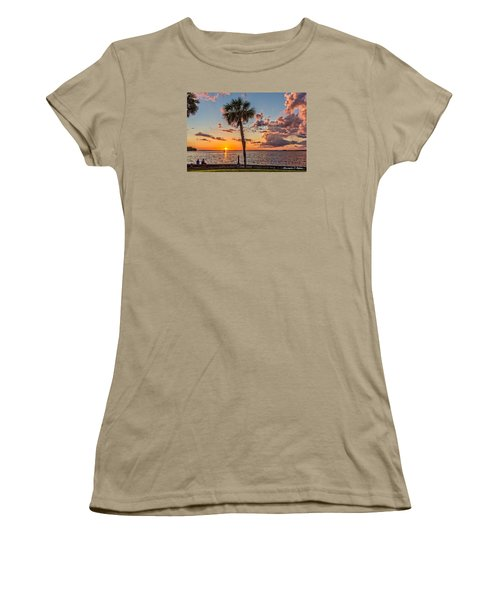 Women's T-Shirt (Junior Cut) featuring the photograph Sunset Over Lake Eustis by Christopher Holmes