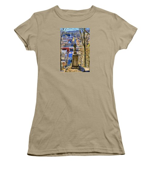 Women's T-Shirt (Junior Cut) featuring the photograph A View From College Hill by DJ Florek