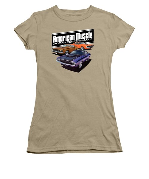 American Mopar Muscle Women's T-Shirt (Junior Cut) by Paul Kuras