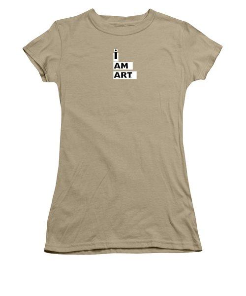 Women's T-Shirt (Junior Cut) featuring the digital art I Am Art Stripes- Design By Linda Woods by Linda Woods