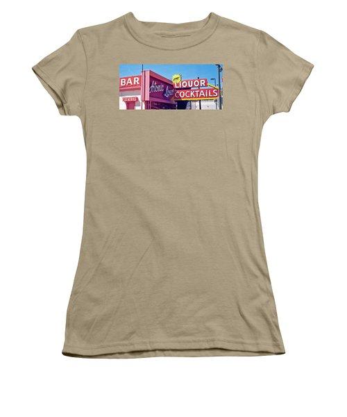 Women's T-Shirt (Junior Cut) featuring the photograph Atomic Liquors by Matthew Bamberg