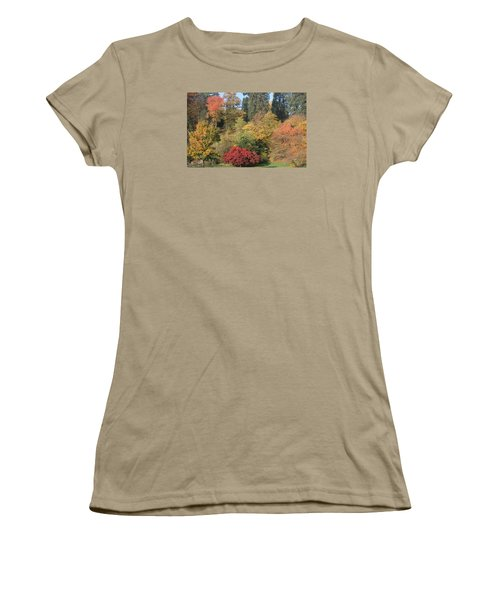 Women's T-Shirt (Junior Cut) featuring the photograph Autumn In Baden Baden by Travel Pics