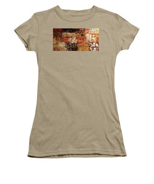 Women's T-Shirt (Junior Cut) featuring the painting Avant Garde by Carmen Guedez