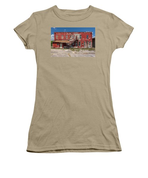 Women's T-Shirt (Junior Cut) featuring the photograph Back Lot by Christopher Holmes