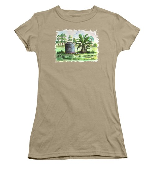 Banana And Tank Women's T-Shirt (Junior Cut) by Anthony Mwangi