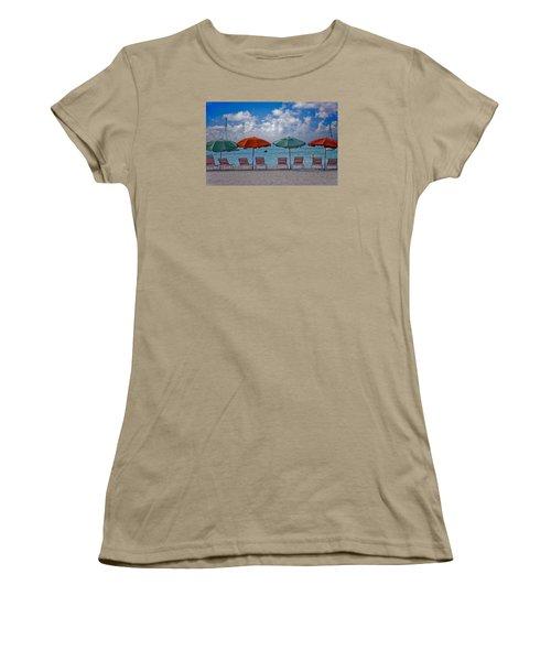 Women's T-Shirt (Junior Cut) featuring the photograph Beachie Keen by Matthew Bamberg