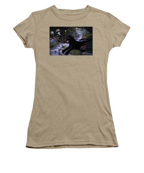 Black Panther Women's T-Shirt (Junior Cut) by Charles Kim