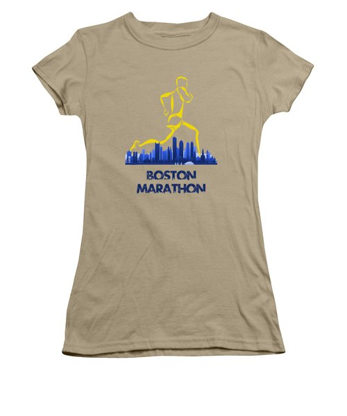 Boston Marathon5 Women's T-Shirt (Junior Cut) by Joe Hamilton