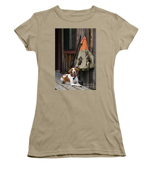 Brittany And Woodcock - D002308 Women's T-Shirt (Junior Cut) by Daniel Dempster