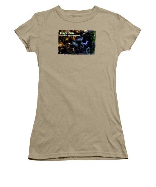Cascade Along The Tioga Pass Yosemite Women's T-Shirt (Junior Cut) by Roger Passman