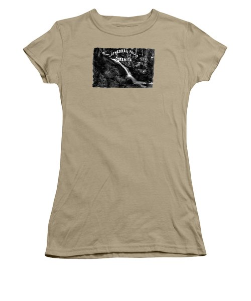 Cathedral Falls From The Tioga Pass Road Women's T-Shirt (Junior Cut) by Roger Passman