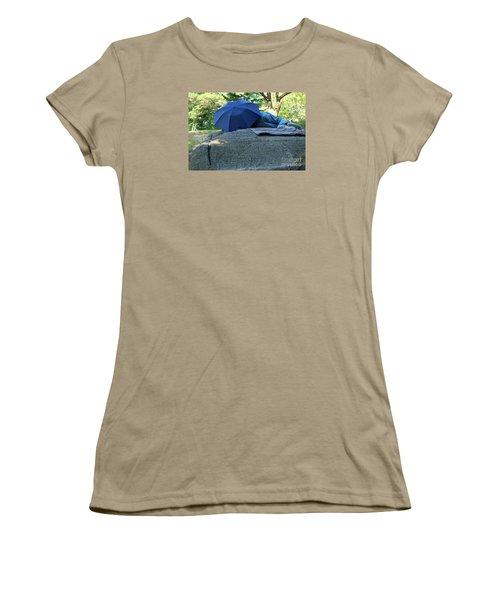Women's T-Shirt (Junior Cut) featuring the photograph Central Park Beauty Rest by Vinnie Oakes