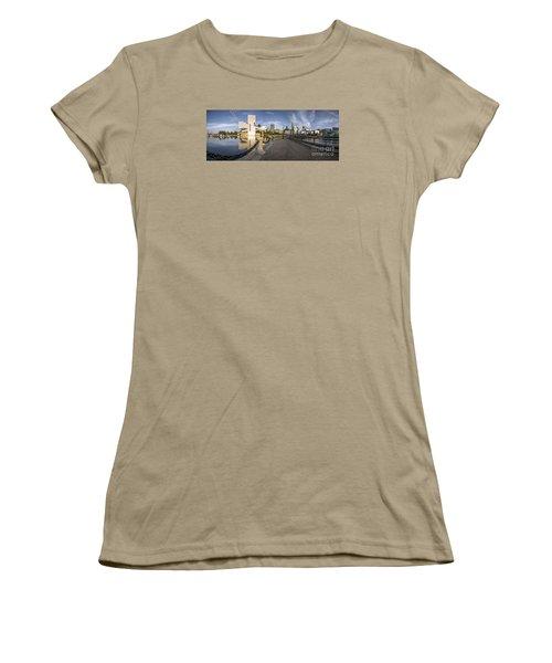 Cleveland Panorama Women's T-Shirt (Junior Cut) by James Dean