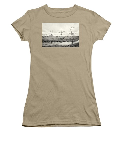 Women's T-Shirt (Junior Cut) featuring the photograph Coastal Skeletons by Andy Crawford