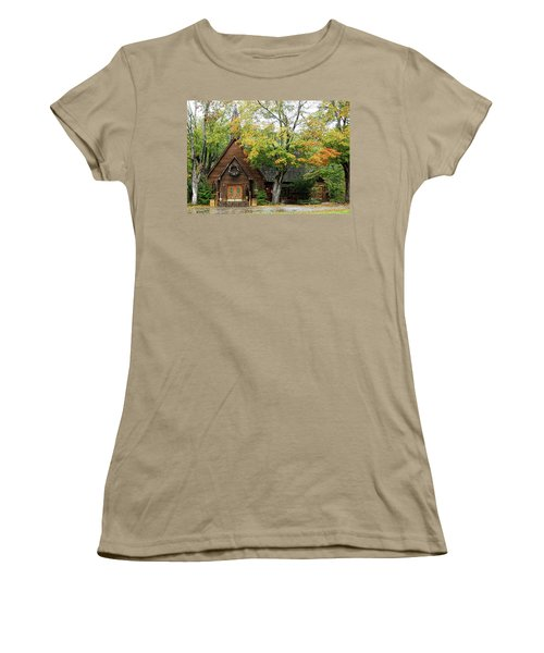 Women's T-Shirt (Junior Cut) featuring the photograph Country Chapel by Jerry Battle