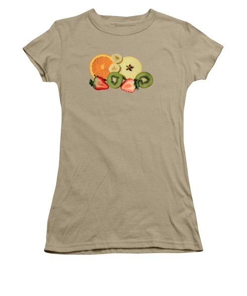 Cut Fruit Women's T-Shirt (Junior Cut) by Shane Bechler