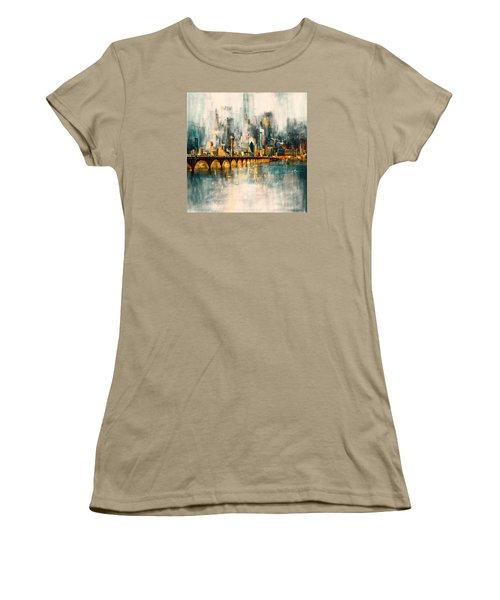Dallas Skyline 217 3 Women's T-Shirt (Junior Cut) by Mawra Tahreem