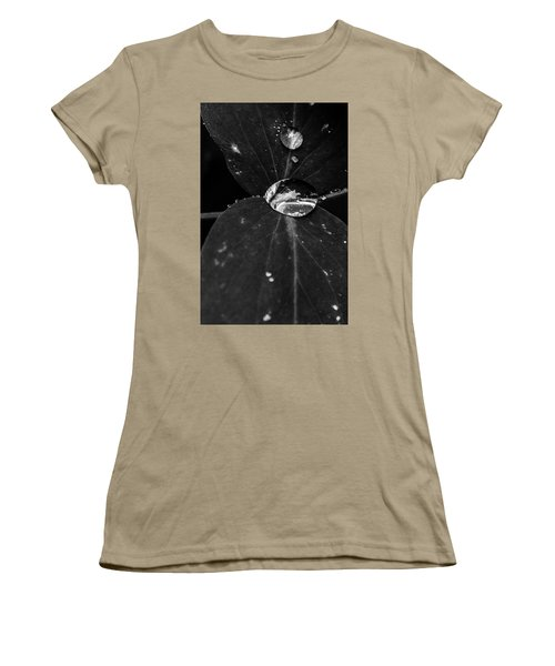 Women's T-Shirt (Junior Cut) featuring the photograph Deep Refraction Between Leaves by Darcy Michaelchuk
