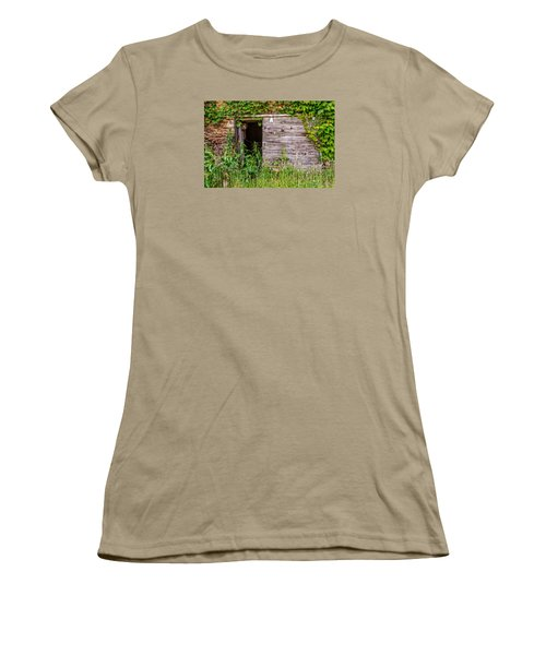 Women's T-Shirt (Junior Cut) featuring the photograph Door Ajar by Christopher Holmes