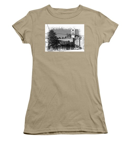 Women's T-Shirt (Junior Cut) featuring the photograph Ellaville, Ga - 3 by Jerry Battle