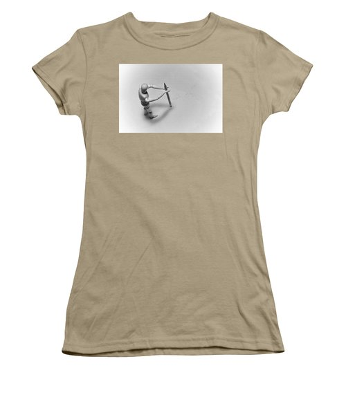 Women's T-Shirt (Junior Cut) featuring the photograph Erasing His Tracks by Mark Fuller