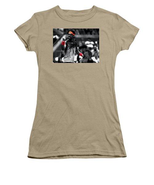 Fabio Fognini Women's T-Shirt (Junior Cut) by Brian Reaves