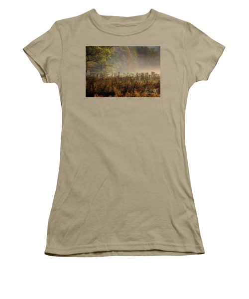 Women's T-Shirt (Junior Cut) featuring the photograph Fall In Cades Cove by Douglas Stucky