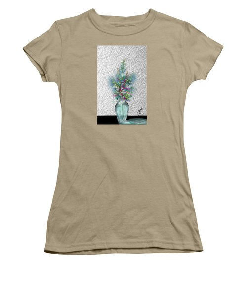 Women's T-Shirt (Junior Cut) featuring the digital art Flowers Study Two by Darren Cannell