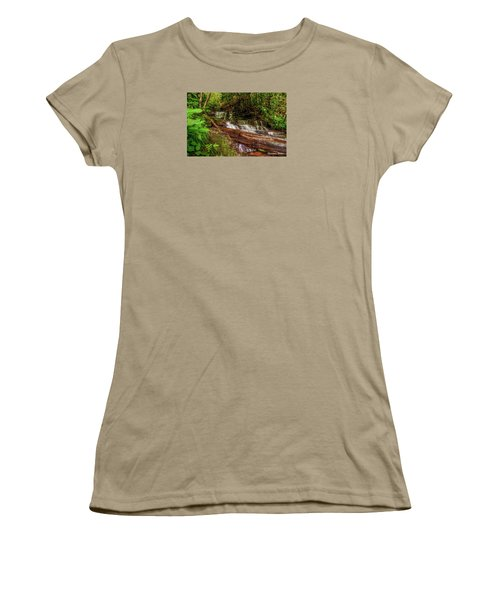 Women's T-Shirt (Junior Cut) featuring the photograph Forest Falls by Christopher Holmes