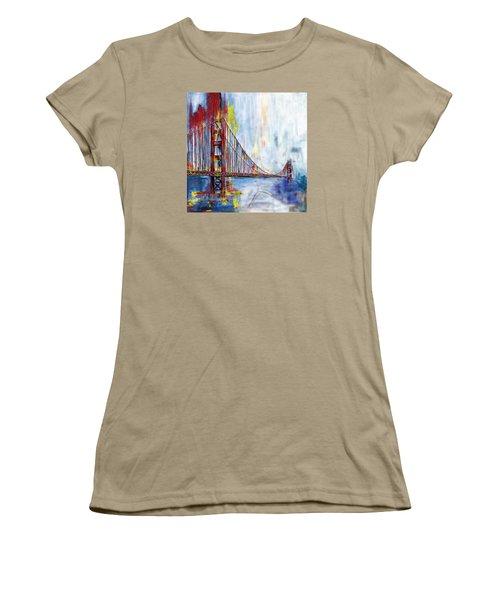 Golden Gate Bridge 218 1  Women's T-Shirt (Junior Cut) by Mawra Tahreem