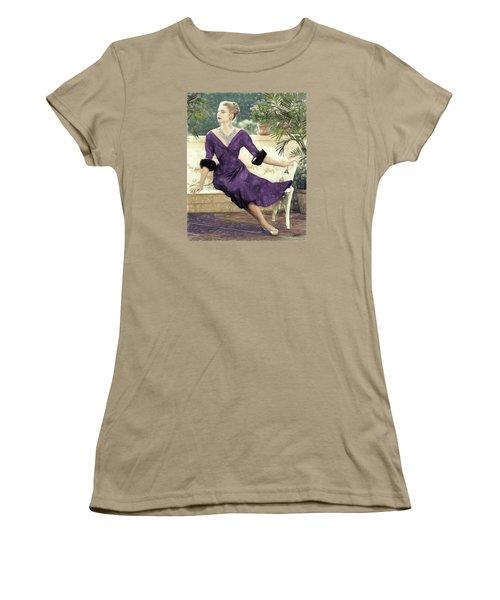 Grace Kelly Draw Women's T-Shirt (Junior Cut) by Quim Abella