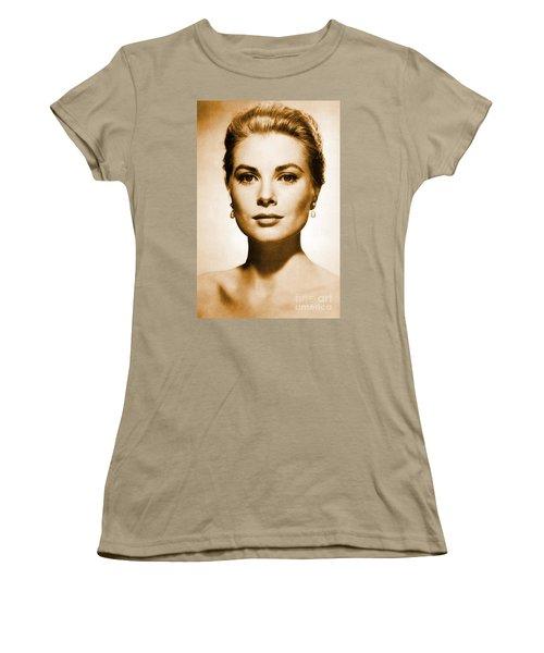 Grace Kelly Women's T-Shirt (Junior Cut) by Opulent Creations