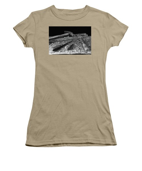 Women's T-Shirt (Junior Cut) featuring the photograph Hand Tools 2 by Richard Rizzo