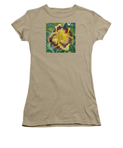 Women's T-Shirt (Junior Cut) featuring the painting Hibiscus 2 by John Keaton