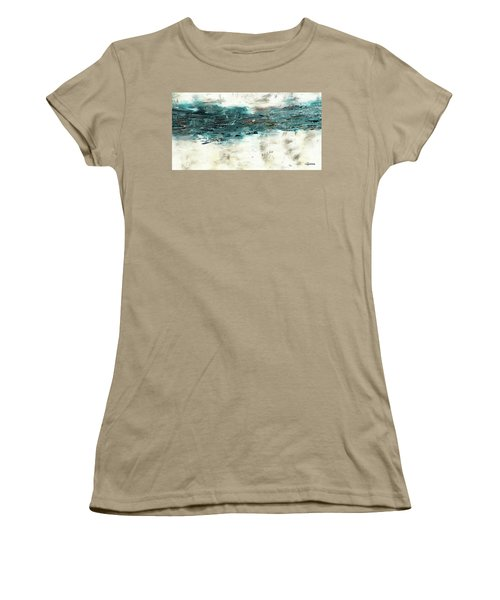 Women's T-Shirt (Junior Cut) featuring the painting High Tide by Carmen Guedez