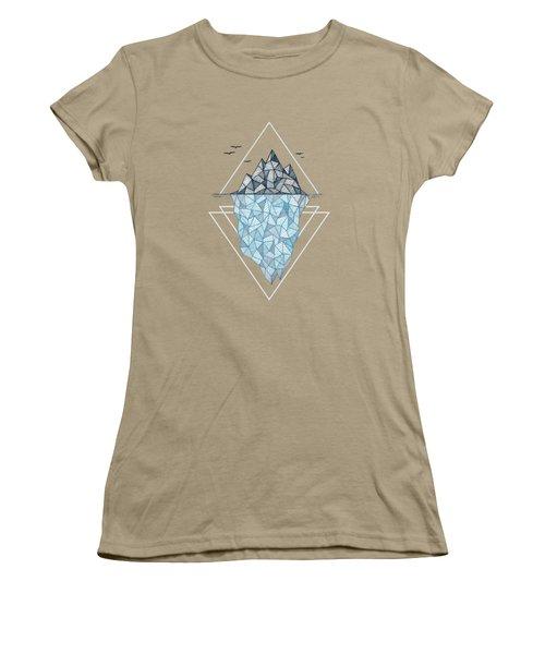 Iceberg Women's T-Shirt (Junior Cut) by Barlena