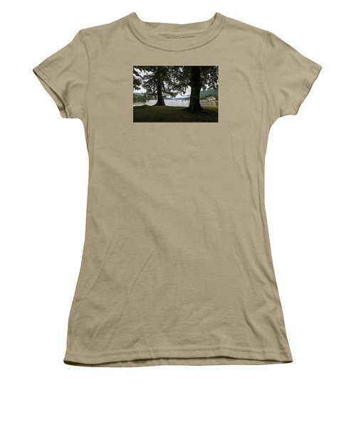 Women's T-Shirt (Junior Cut) featuring the photograph In Glencoe Uk by Dubi Roman