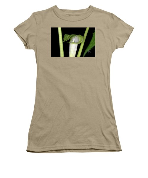 Women's T-Shirt (Junior Cut) featuring the photograph Jack In The Pulpit by Meta Gatschenberger
