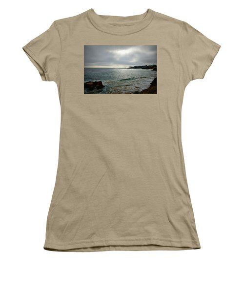 Women's T-Shirt (Junior Cut) featuring the photograph Laguna Beach Sunset by Glenn McCarthy Art and Photography