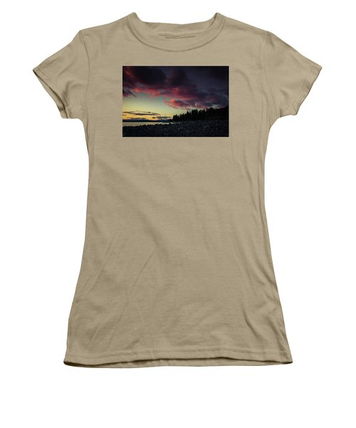 Women's T-Shirt (Junior Cut) featuring the photograph Lake Dreams by Jan Davies