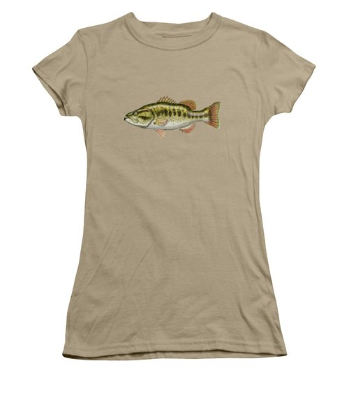 Largemouth Bass Women's T-Shirt (Junior Cut) by Serge Averbukh