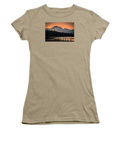 Women's T-Shirt (Junior Cut) featuring the photograph Lassen In Autumn Glory by Jan Davies