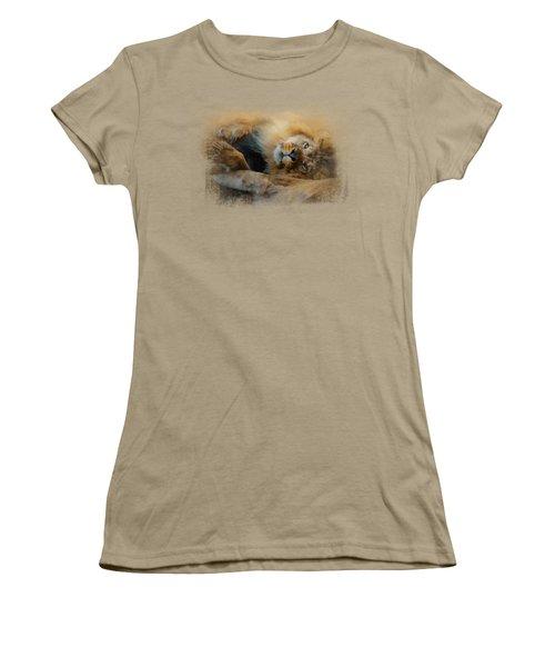 Lion Love 2 Women's T-Shirt (Junior Cut) by Jai Johnson