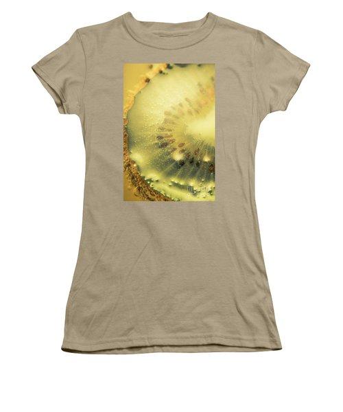 Macro Shot Of Submerged Kiwi Fruit Women's T-Shirt (Junior Cut) by Jorgo Photography - Wall Art Gallery